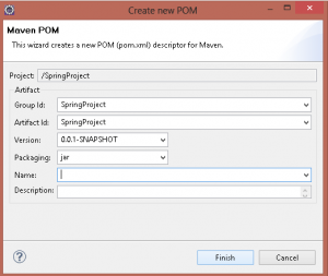 07 maven create new pom