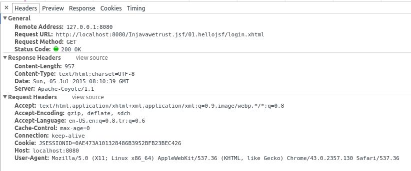 HTTP GET JSF