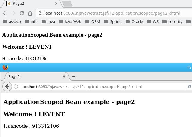 application scoped bean