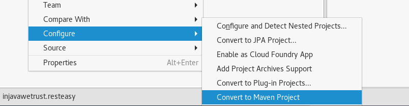 convert to maven project