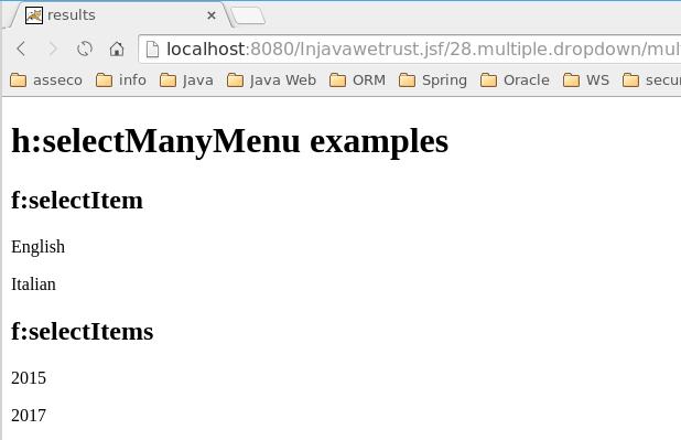 h:selectManyMenu results
