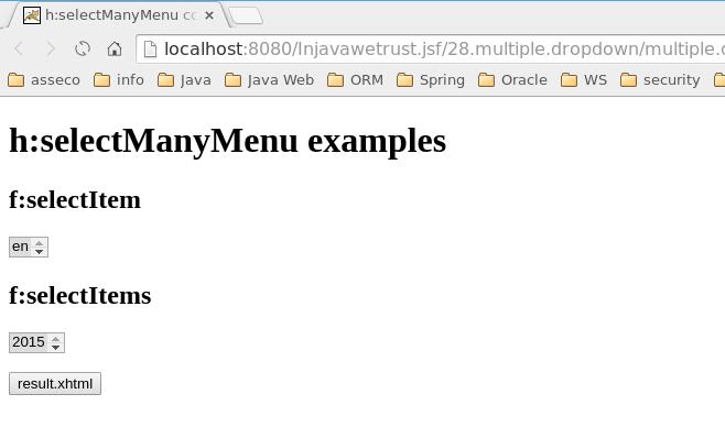 h:selectManyMenu