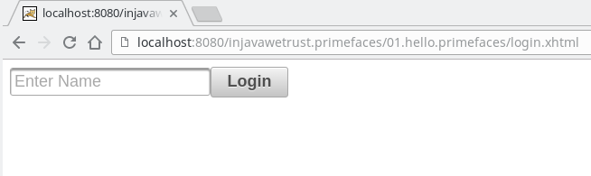 login primefaces