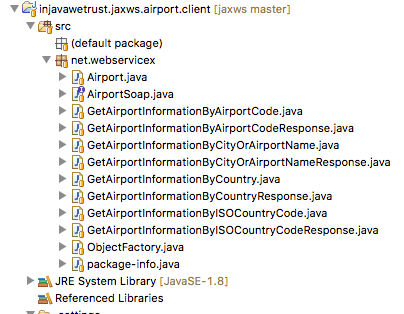 JAX – WS – 13 – Sample Public Web Service – Airport Web